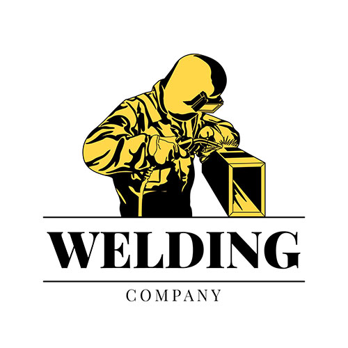logo template with welder with details 1