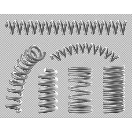 metal springs realistic coils bed car set 1