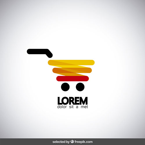 modern shopping cart logo 1