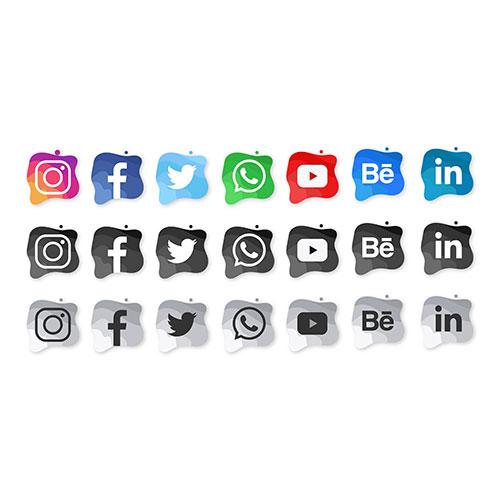 modern social media watercolor icons 1