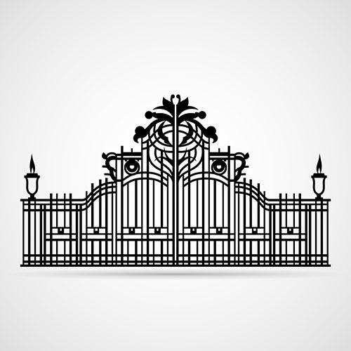 ornamental gate isolated 1