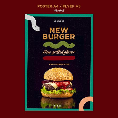 poster template burger restaurant 1