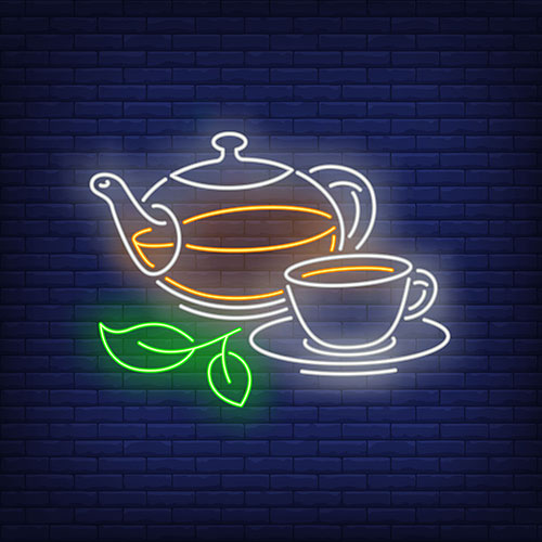 teapot cup neon style 1