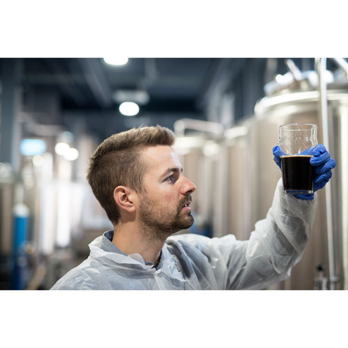 technologist brewery checking beer quality 1