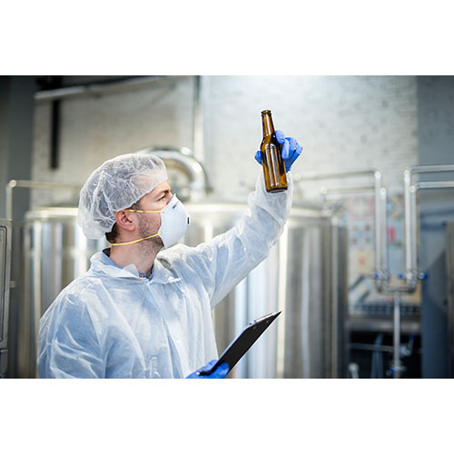 technologist checking beer quality brewery 1