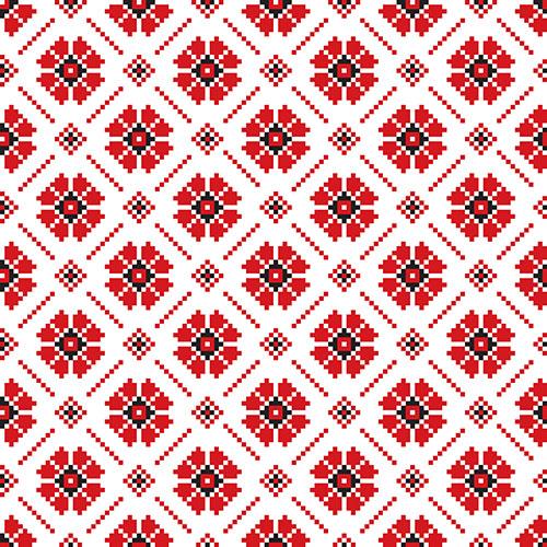 vector illustration ukrainian folk seamless pattern ornament ethnic ornament border element2 1