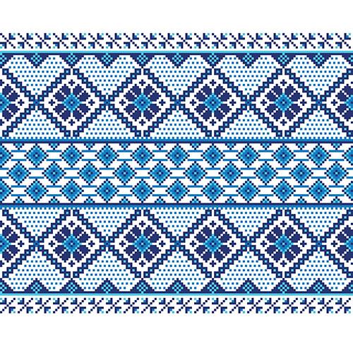 vector illustration ukrainian folk seamless pattern ornament ethnic ornament border element5 1