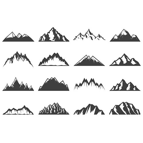 vintage mountains collection 1