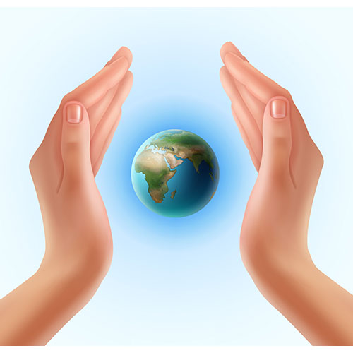 woman s hands protecting world 1